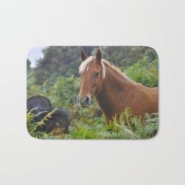 Wild Palomino Flaxen-maned New Forest Horse Bath Mat