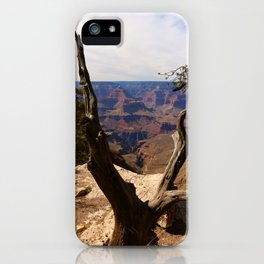 Grand Canyon View Through Dead Tree iPhone Case
