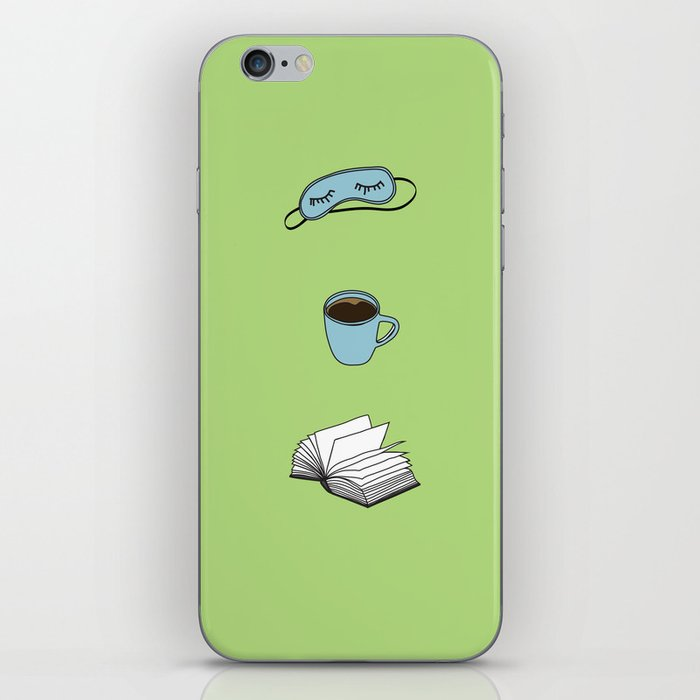 Sleep, Coffee, Read, Repeat iPhone Skin