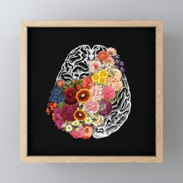 Love Your Brain Framed Mini Art Print
