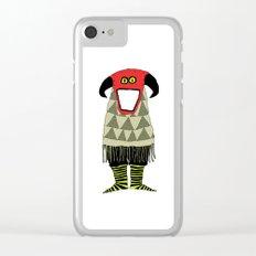 Wild Man VII Clear iPhone Case