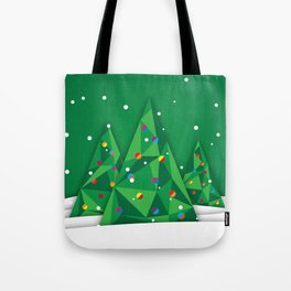 Vector Christmas Tree Tote Bag