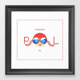 Let's have a pool party. Framed Art Print