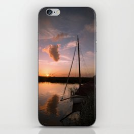 River Thurne Sunset iPhone Skin