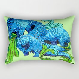 Floral Pangolins Rectangular Pillow