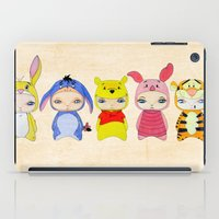 piglet iPad Cases featuring A Boy - Winnie and friends by Christophe Chiozzi