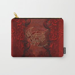 Bird in red colors Carry-All Pouch