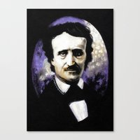 edgar allan poe Canvas Prints featuring Edgar Allan Poe by Rouble Rust