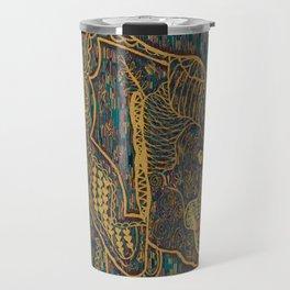 Zentangle Elephant Gold Travel Mug