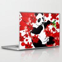 red panda Laptop & iPad Skins featuring Panda by Saundra Myles