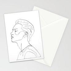 side portrait  Stationery Cards