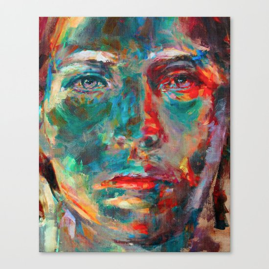 Face in Saturated Color's 2 Canvas Print