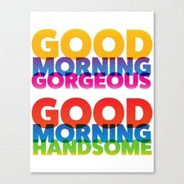 Good Morning Halftone Canvas Print