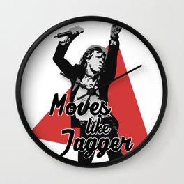 Moves like Jagger Wall Clock