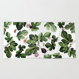 Figs White Beach Towel