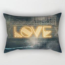 LOVE – Neon Retro Rectangular Pillow