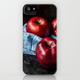 Three Red Apples iPhone Case