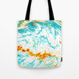 Waves of Thought #abtsract #painting Tote Bag