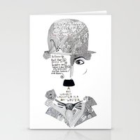 chaplin Stationery Cards featuring C. Chaplin by Ina Spasova puzzle