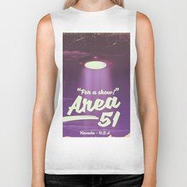 """For A Show"" Area 51 - Nevada U.S.A (Color) Biker Tank"