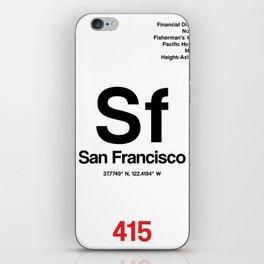 San Francisco City Poster iPhone Skin
