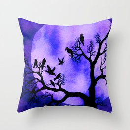 A Murder of Crows 3 Throw Pillow