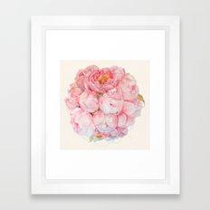 Tender bouquet Framed Art Print