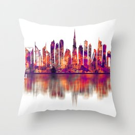 Dubai United Arab Emirates Skyline Throw Pillow
