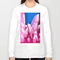crystals Long Sleeve T-shirts featuring Crystals by Katrina Zenshin