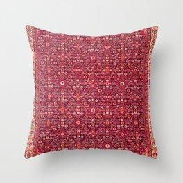 Malayer West Persian Rug Print Throw Pillow