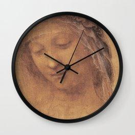 Sketch of a woman - Leonardo Da Vinci Wall Clock