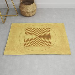 Alien crop circle. Sacred geometry. Rug