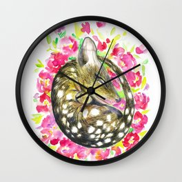 Sleepy baby quoll Wall Clock