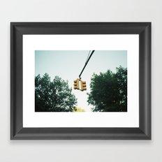 new york city, stoplight Framed Art Print