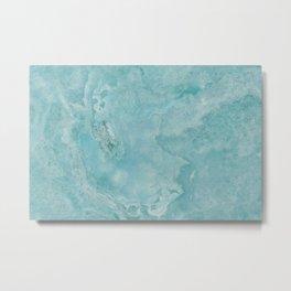 Turquoise Sea Marble Metal Print