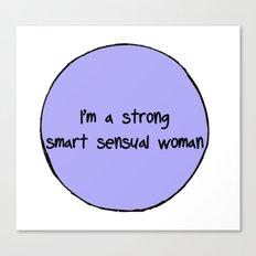 Sensual Woman Canvas Print