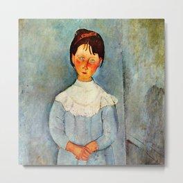 "Amedeo Modigliani ""Little girl in blue"" Metal Print"