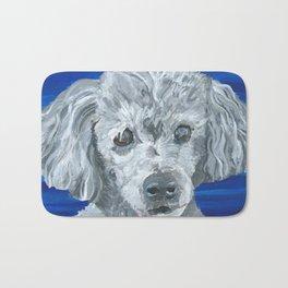 Beau the Poodle Pet Portrait Painting Bath Mat
