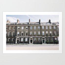 Bloomsbury Houses (London, England) Art Print