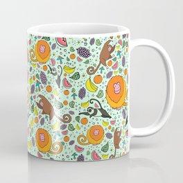 Cute Monkeys and Fruit Coffee Mug