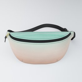 Touching Soft Emerald Beige Watercolor Abstract #1 #painting #decor #art #society6 Fanny Pack