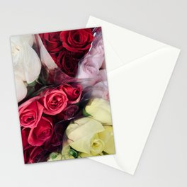 grocery store roses Stationery Cards