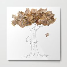 Pencil shavings tree Metal Print