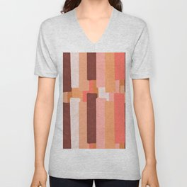 Line In Coral #society6 #abstractart Unisex V-Neck