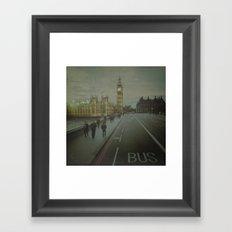 London. Over The Bridge.  Framed Art Print