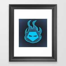 Hot Headed (Blue) Framed Art Print