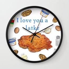 I Love You A Latke Wall Clock