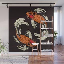 Two Koi Wall Mural