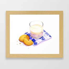 Milk & Cookies Framed Art Print
