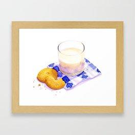 Milk & Cookies Framed Art Print
